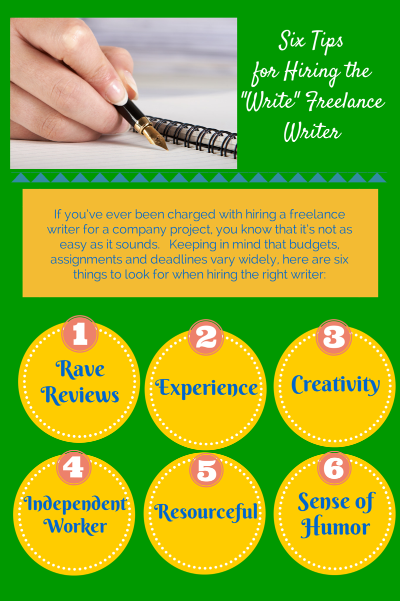 hiring writer More and more companies are turning to freelance writers for help with projects  ranging from special reports to creating marketing content freelance writers can .