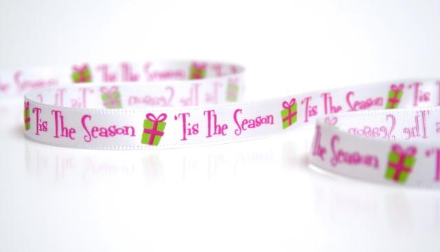 Tis the season Christmas ribbon